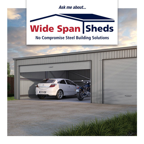 Wide Span Sheds customised garages