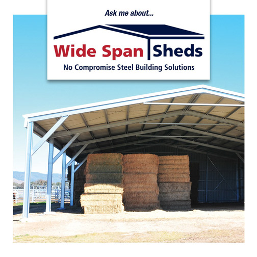 Wide Span Sheds farm storage
