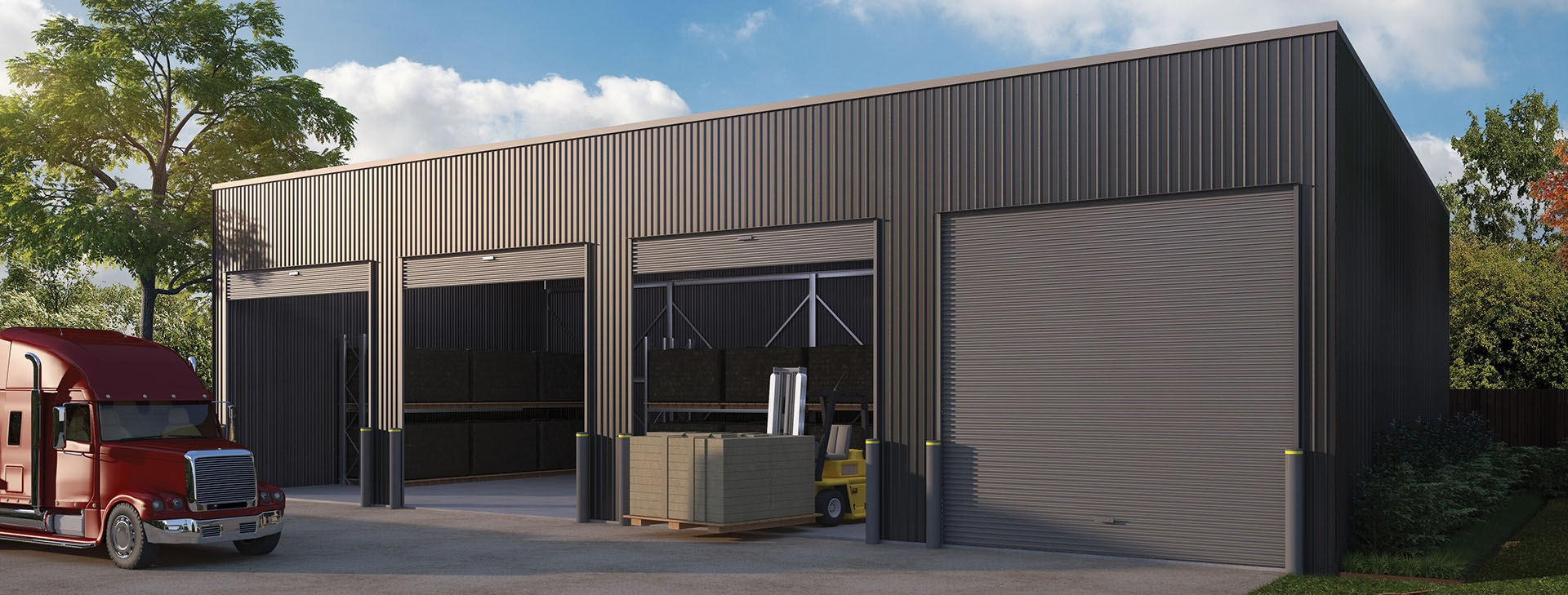 Wide Span Sheds industrial skillion