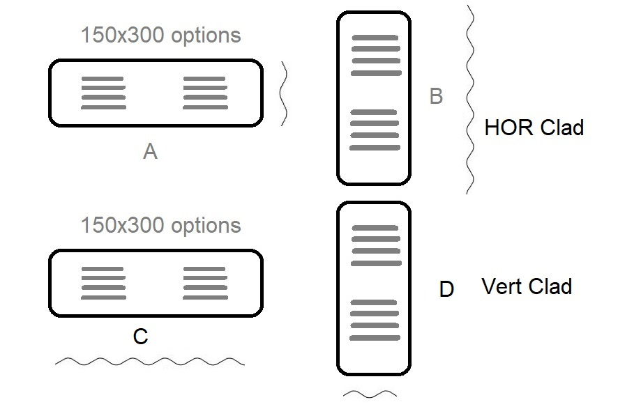Option A or B C or D for 150x300 Vents