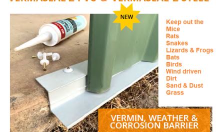 New Vermin Seal Vermaseal Z is available PVC & Steel for Bushfire Zones
