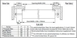 Series-B-opening-size-side-room-mounting-space-drawing