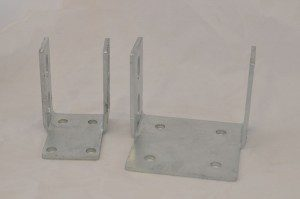 shed bracket hold down footing cleat