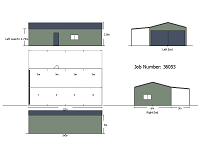 6M X 12M X 3M LONG DOUBLE GARAGE WITH A LEAN-TO