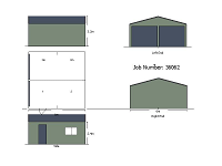 6M X 6M X 2.4M DOUBLE GARAGE WITH 2 ROLLER DOORS