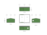 7M X 9M X 3M 2 BAY WORK SHED WITH DRIVE THROUGH ROLLER DOORS