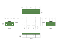 9M X 18M X 3.8M LARGE 4 BAY BUILDING WITH 18M X 4M LEAN-TO SHED