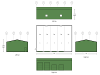 12M X 20M X 4.5M HUGE LIFESTYLE SHED COLORBOND 5 BAYS 4 ROLLER DOORS