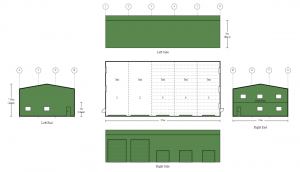 12m x 25m x 6m Large Commercial Steel Shed With Mezzanine Floor & Roller Doors