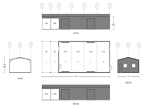 7.5M x 24M x 3M 6 Bay Double Drive-Thru Shed With Large Open Gable End Roof