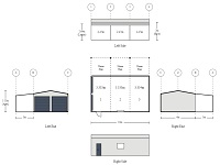 6m x 10m x 3m 3 Bay Deep Double Garage with Side Awning